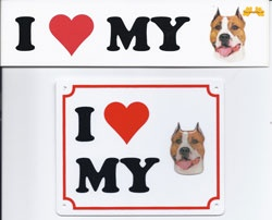 I love my Am. Staffordshire Terrier