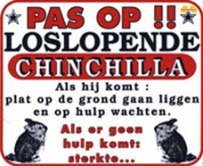 Pas op!! Loslopende Chinchilla