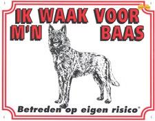 Ik waak voor m'n baas Hollandse Herder