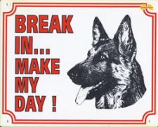 Break in make my day Duitse Herder