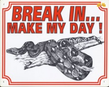Break in make my day Boa constrictor