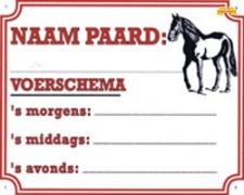 Naam Paard/Voerschema