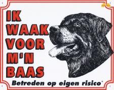 Ik waak voor m'n baas Rottweiler