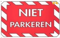 Niet parkeren
