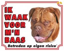 Kleur: Ik waak voor mijn baas Bordeaux Dog