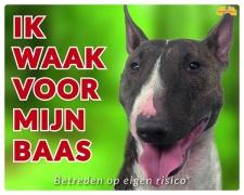 Kleur: Ik waak voor m'n baas Bull Terrier
