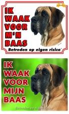 Kleur: Ik waak voor m'n baas Duitse Dog