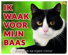 Ik waak voor mijn baas Zwart Witte kat