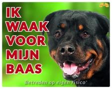 Kleur: Ik waak voor m'n baas Rottweiler